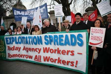 Irske arbejdere i aktion