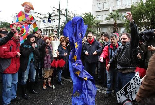 Græske arbejdere protesterer mod EU-diktat februar 2010