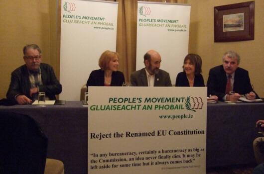 Den irske folkeafstemningskamp om Lissabontraktaten er i fuld gang Modstanderne mobiliserer til et nej