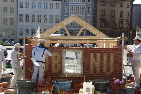 Fælles eruopæisk aktionsdag mod EU's krisepolitik Nytorv 15. maj 2009