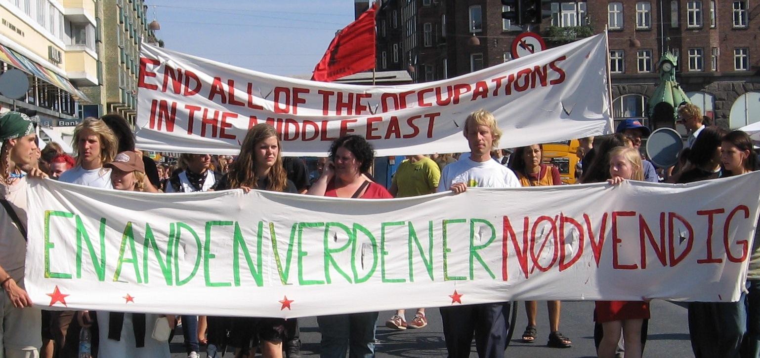 Demonstration i København -International Ungdomslejr 2006