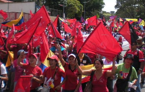 Verdenskonferece for græsrodskvinder idemonstrerer 8. marts 2011 i Caracas, Venezuela