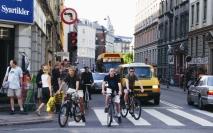 Nørrebrogade før den midlertidige bilbegrænsning