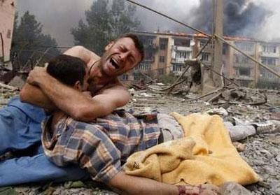 Ofre for det brutale georgiske angreb på Sydossetien og dens civilbefolkning