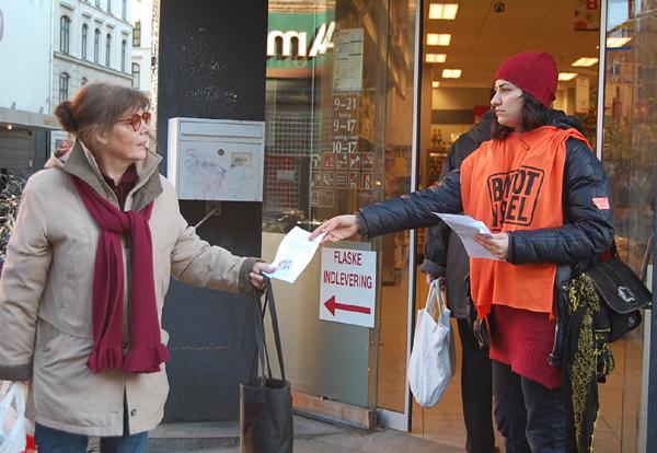 Boykot Israels landsdækkende fremstød 14. februar 2009