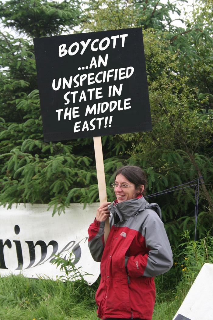 Protest mod anklagerne mod Boykot Israel-aktivister for 'racisme'
