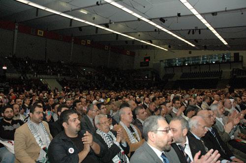 Flere tusinde deltog i konferencen om retten til tilbagevenden i Brøndbyhalolen den 3. maj