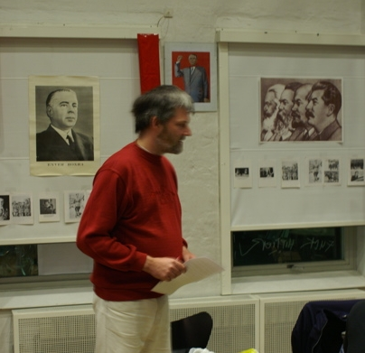 Franz Krejbjerg ved festmødet Enver Hoxha 100 år
