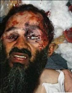 Falsk billede af 'død bin Laden' som er cirkuleret på nettet og i nogle internationale medier