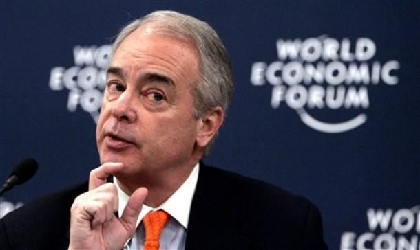 James E. Rogers, direktør i Duke Energy, taler her ved World Economic Forum i Davos 2007 Nu er han med i Copenhagen Climate Council