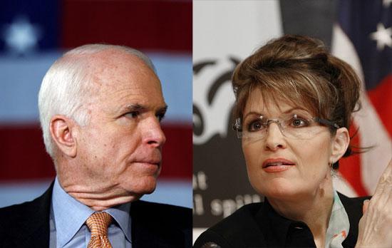 John Mc Cain Sarah Palin