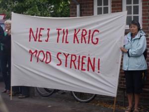 nej til krig mod syrien