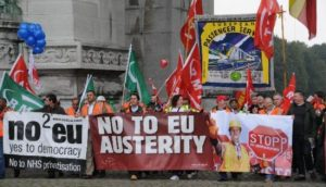 no to EU austerity UK