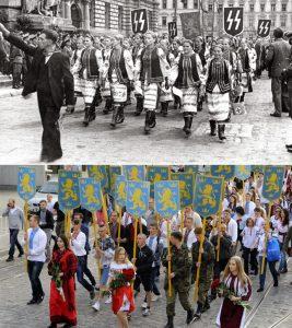 lviv waffen ss parade