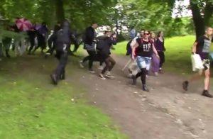 Politiet spreder teltlejr