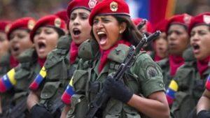 Venezuela-mujeres-militares