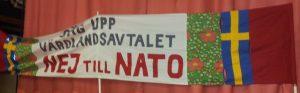 Sig op värdlandsaftalen - NEJ till NATO