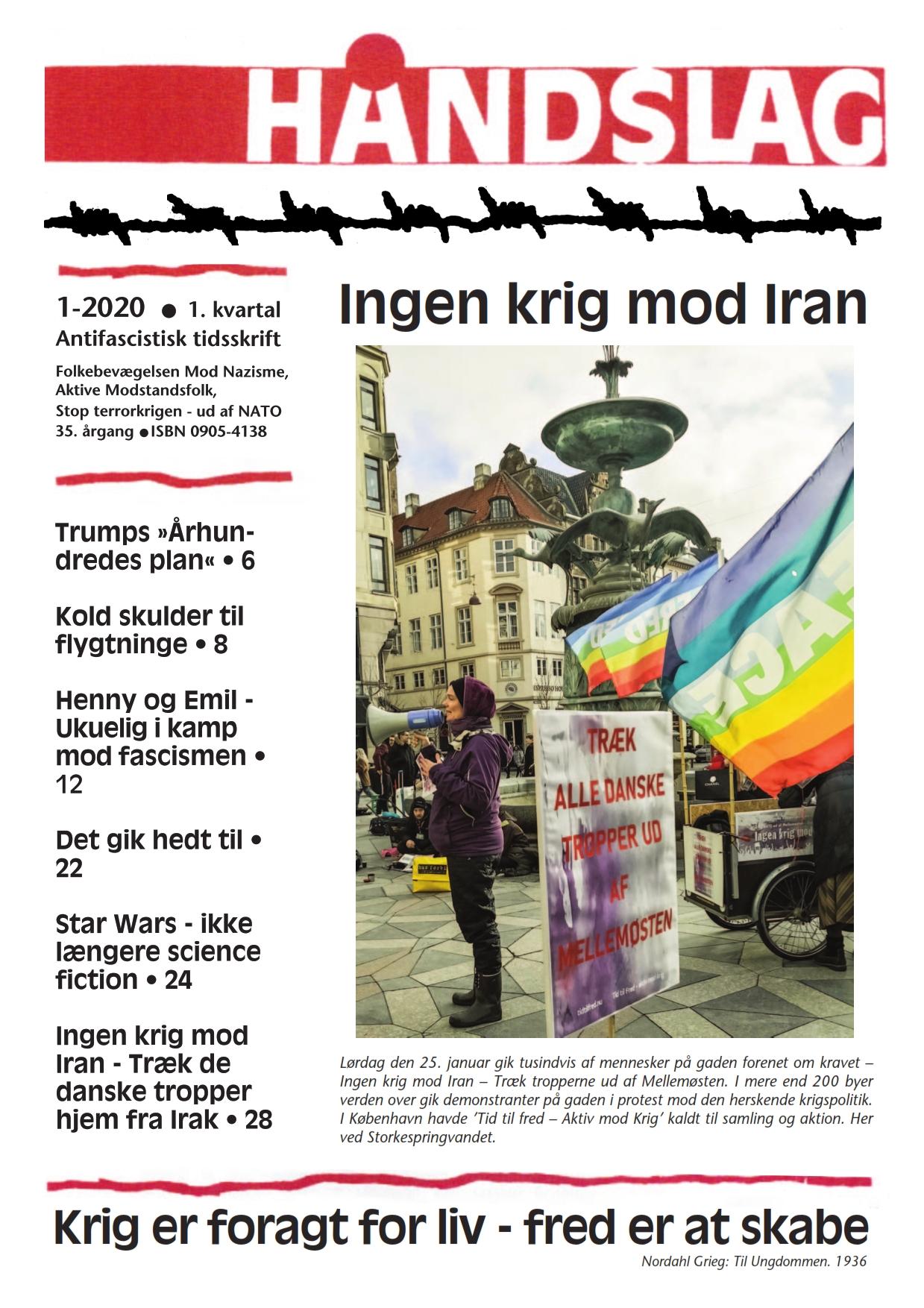 Tidsskriftet mod fascisme og krig  Nyt nummer...